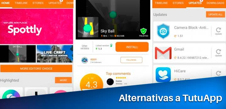 lista de alternativas a tutuapp